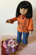 American Girl Asian Doll Ivy Ling W/clothes, Boots, Kimono, Retired