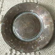 Antique Armenian Copper Bowl Plate 11.5 Hand Hammered Middle Eastern Turkish
