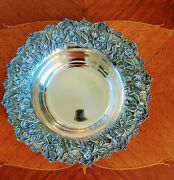 Antique S Kirk Co Repousse 925/1000 Sterling Silver Oval Fruit Bowl 179 575 G