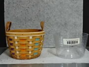 2017 Longaberger Collectors Club Cc Corn Basket Protector Easter Fall Leather