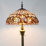 Glam Bright Floor Lamp Style Stained Glass Bedroom Home Decorations