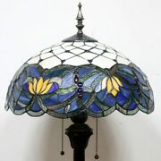 Blue Stained Floor Lamp 64 Style Glass Bedroom Home Decorations Gift