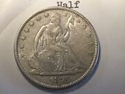 1875-s Liberty Seated Half Old Collection Nice Original High Grade Mint Luster