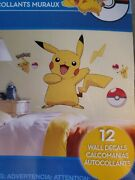 Pikachu Large Pokemon Peel And Stick Wall Decals Mural Pokeball Stickers New