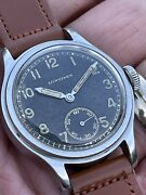 Vintage Longines German Military Dh Gilt Dial With Step Case. A Good One