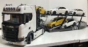 There Are Conditions Nzg 118 Scania V8 730s Car Transporter White Scania Trans