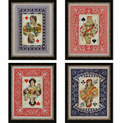 Paragon Vintage Traditional Playing Cards Pack Of 4 Wall Art 4459
