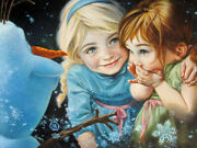 Disney Paintings Frozen/never Let Go Limited To 195 Copies Canvas Zikre Picture