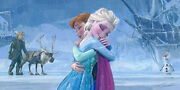 Disney Paintings Frozen/ The Warmth Of Love Limited To 195 Copies Canvas Zikre