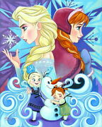 Disney Paintings Frozen Limited To 195 Copies Canvas Zikre Picture Frame Types