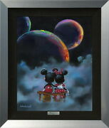 Disney Mickey Minnie/side By Side Planet Certificate Of Work With Hook For