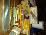 Vintage Antique Wooden Fishing Lures Henndon Creek Chub And More