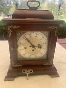 Awesome Vintage Hamilton Chiming Mantle Clock Made In W/germany 2 Jewels 340-020