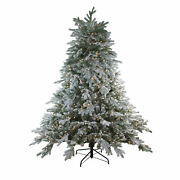Northlight 9and039 X 78 Frosted Butte Fir Artificial Christmas Tree - Clear Lights