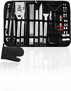 35pcs Bbq Grill Accessories Tools Sets Stainless Steel Grilling Tool W/thermomer