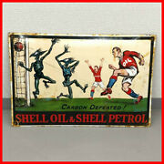 Shell Enamel Sign Uk 1950and039s Gas Oil Vintage Antique Display Advertising