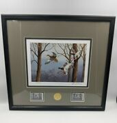 Ducks Unlimited Framed Print 80th Anniversary Medallion And Stamp By David Maass
