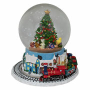 Northlight 16.5 Christmas Tree Musical Water Globe Snow Blowing Table Top Decor