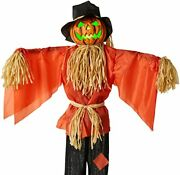Scarecrow Halloween Decor, Husker The Corn Keeper Sound And Motion Activated