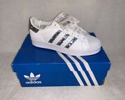 Adidas Superstar J - Size Uk 4 - Girls/women Trainers Sneakers - Holographic