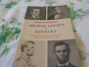 1972 Abraham Lincoln Pamphlet 48 Page Kentucky Signed Carl Howell Jr.hodgenville