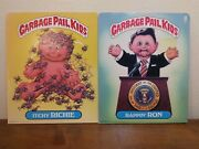 Lot Of 2 Vintage 1985 Topps Garbage Pail Kids Folders- Itchie Richie- Rappin Ron