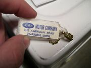 Vintage 1960and039 S Ford Accessories Nos Promo Fomoco Auto Key Holder Fob Car Part