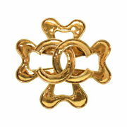 Vintage Coco Mark Gold Brooch Accessory 0784 Previously Owned No.1738