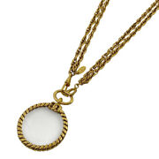 Coco Mark Magnifying Glass Necklace Cc Roundnecklace Gp Gold No.2280