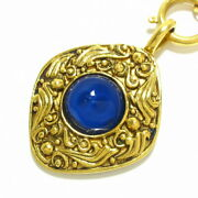 Necklace Gripoa Lombas Top Removable Gold Blue Metal Material No.2309