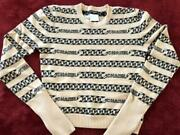 Cashmere Chain Vintage Sweater From Japan Fedex No.3348