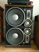 Sansui Speakers Sp-x11000. 2 Pieces Per Speaker.andnbsp Each Cabinet Weighs 44 Pounds.