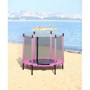 44 Mini Trampoline For Toddler Kids Adults Fitness Trampoline Indoor Toys Pink