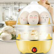 Multifunction 2layer Electric Egg Cooker Boiler Steamer Automatic Power-off..