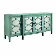 Stein World Carrie Breakfront Credenza In Blue And Gray W/ Antique Mirror 13511
