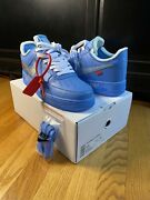 """Nike Air Force 1 Low Off White """"mca"""" Cl1173-400 Size 11 With Alternate Laces"""