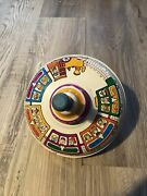 Vintage Metal/tin Spinning Top Made In Ohio Usa Antique Children's Toy Trains