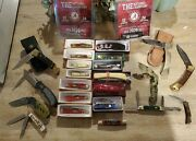 Pocket Knife Lot New And Used