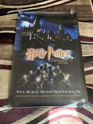 2001 Vintage Harry Potter And The Sorcerers Stone 4x6 Feet Bus Stop Movie Poster