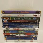 Lot Of 12 Christmas Dvds - Family / Kids Sanat Clause 1-3 Simpsons