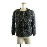 Jacket Wool Cotton Polyester Rayon Nylon Women And039s Black System No.5161