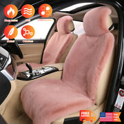 2pcs For Mercedes Benz Sl Sheep Skin Seat Covers Set Front Cushion Winter Warm
