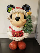 Jim Shore Disney Tradition Christmas Large Mickey Mouse Old St Mick 17 New/ Box