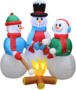 Christmas Inflatable Snowmen Decorations Blow Up Lights Outdoor Holiday Yard 5ft