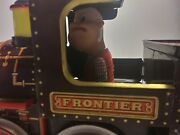Modern Toys Mystery Action Frontier 3535 Litho Tin Locomotive Ca 1960s Japan