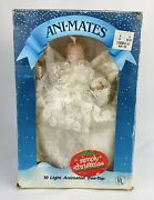Vintage Christmas Angel Tree Topper Animated Moving Lights 11andrdquo Porcelain 1989