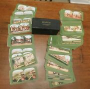 Antique St. Louis Fair Set Of 301-400 Color Stereoview Cards With Box