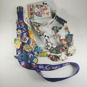 Disney Trading Pins Collection Mixed Lot Of 27 With 2 Lanyards