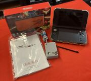 Nintendo 3ds Xl Samus Edition In Box W/ Protective Case, Manual, Charger. Read