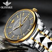 Automatic Watches Men Sapphire Crystal Mechanical Swiss Luminous Stainless Steel